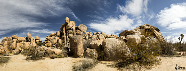 Day 47 Hidden Valley, Joshua Tree.  Just now starting to go through my shots from Joshua Tree yesterday.  Started out with this 9 shot panorama.  It was the perfect day in Joshua Tree, awesome skies and a perfect 70 degrees. More from my trip to joshua tree can be seen here: http://www.lisaspeakmanphotography.com/Other/Joshua-Tree/28058655_C3fMzg#!i=2370100050&k=dTzpCQz&lb=1&s=A  or  I posted a slide show in my dailies and on my blog post:  https://lisa-speakman.squarespace.com/blog/