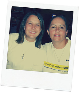 Day 130 ~ Fast Friends Very sad day today.  My friend Kristi (on the right) lost her battle with cancer last night leaving a husband and 3 children behind.  To say that she and I were fast friends is a little bit of an understatement.  I could say that I met her at the Livestrong Summit in Columbus, OH the summer of 2008.  But really, by the time we got to Columbus we were already friends.  I met Kristi at the airport in Chicago where we were both waiting for our delayed connection to Columbus.  We were inseparable that weekend... and have kept in touch since.  She battled so fiercely and for so long.... She never complained, she never gave up and she never lost faith.  She was one of the most inspirational people I have ever known.  Please say a prayer for her family today.