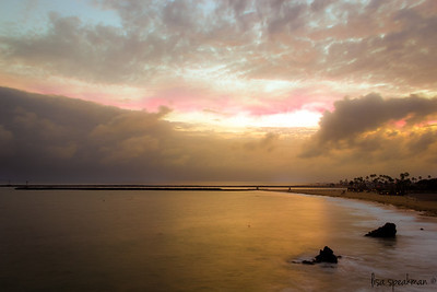 """Day 125 ~ Corona Del Mar Storm is coming...totally socked in, but still managed to eek a little color out of """"sunset"""" tonight."""